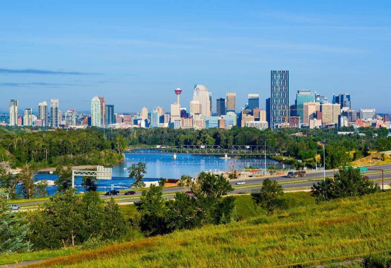 Blick auf Calgary, die viertgrößte Stadt Kanadas. Foto StockImage
