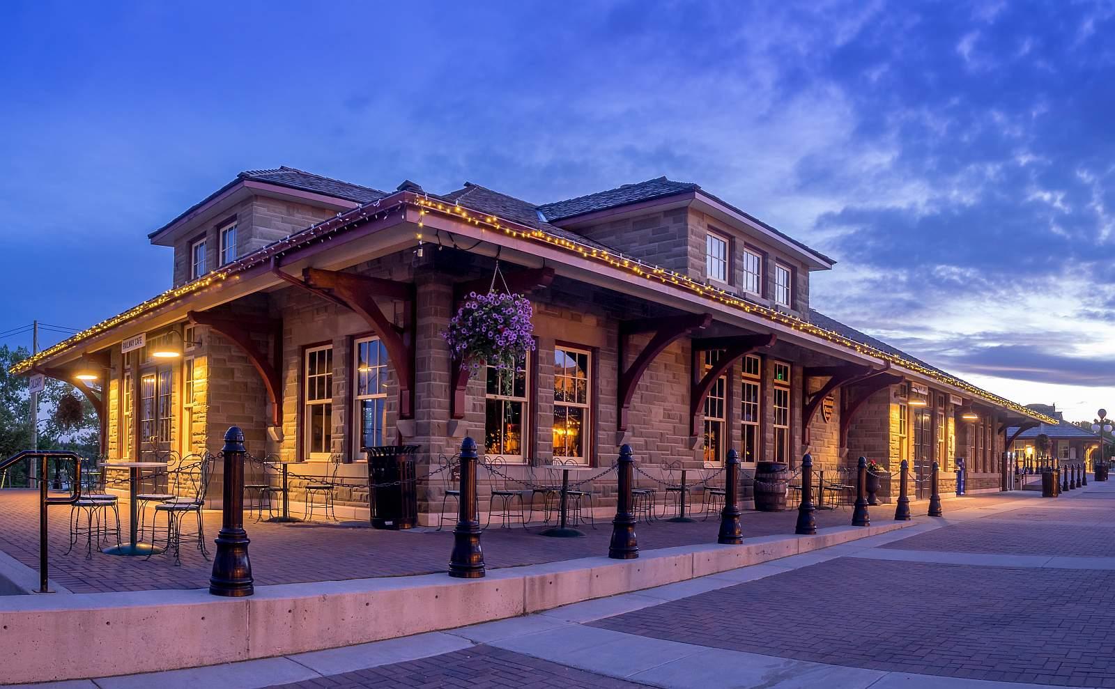 "Calgarys lebendes Museum, das ""Heritage Park Historical Village"". Foto StockImage"