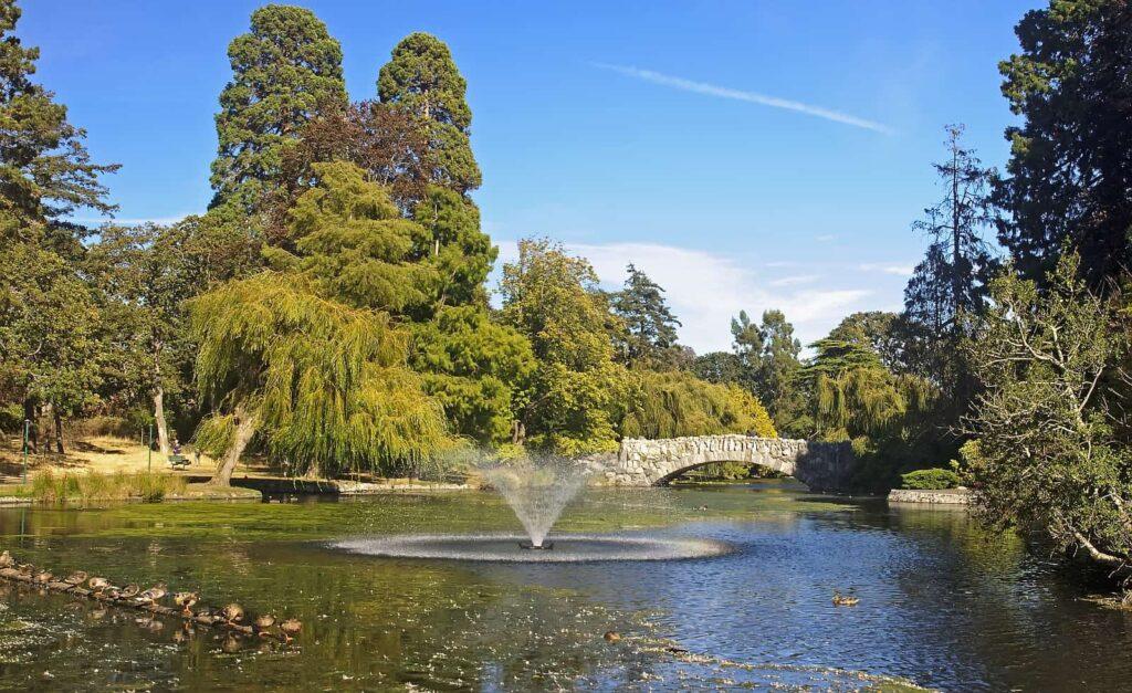 Ein wunderschöner Blick in den Beacon Hill Park in Victoria. Foto Stockfoto/Deposit