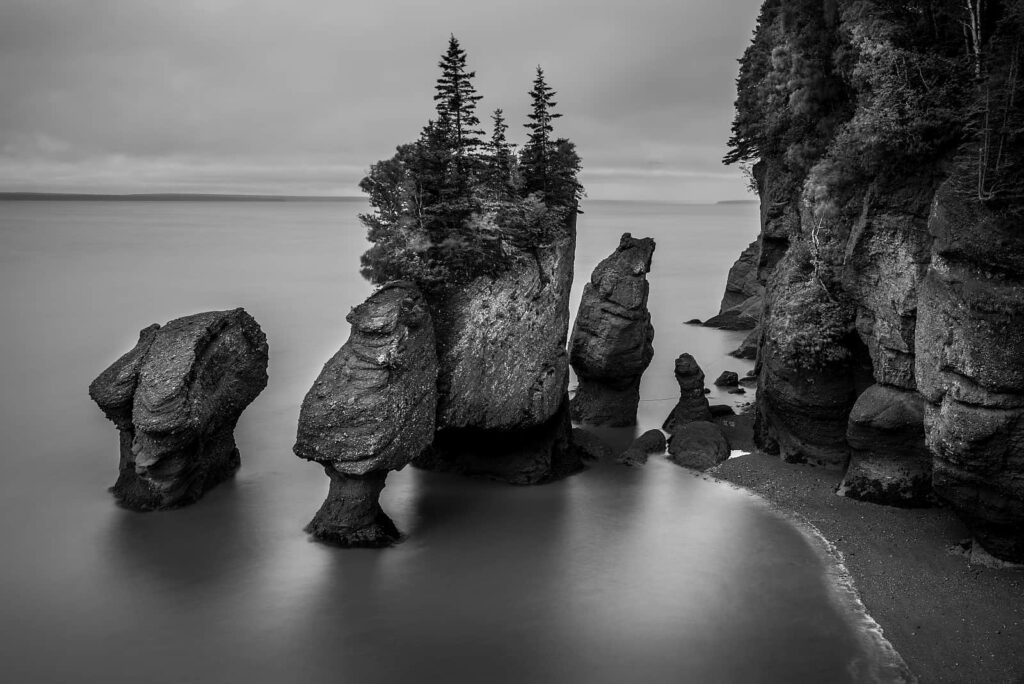 Die Hopewell Rocks in der Bay of Fundy. Foto vincentstthomas/Stockfoto