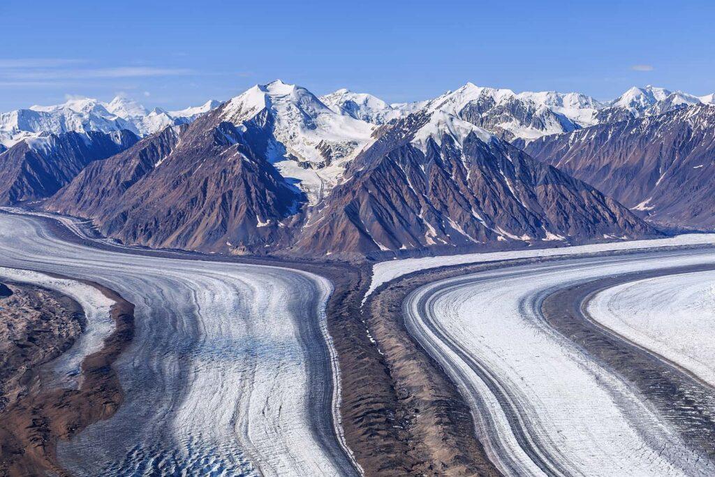 Blick auf den Kaskawulsh Glacier im Kluane National Park, Yukon. Foto sunsinger/Stockfoto