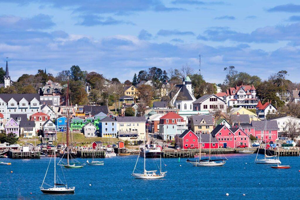Das historische Lunenburg, Nova Scotia. Foto PiLens/Stockfoto