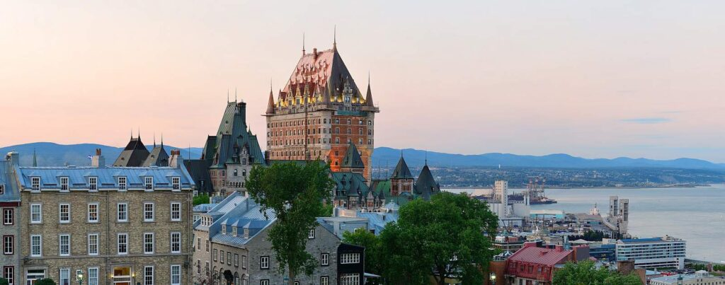 Quebec City Panorama mit dem Chateau Frontenac. Foto rabbit75_dep/Stockfoto