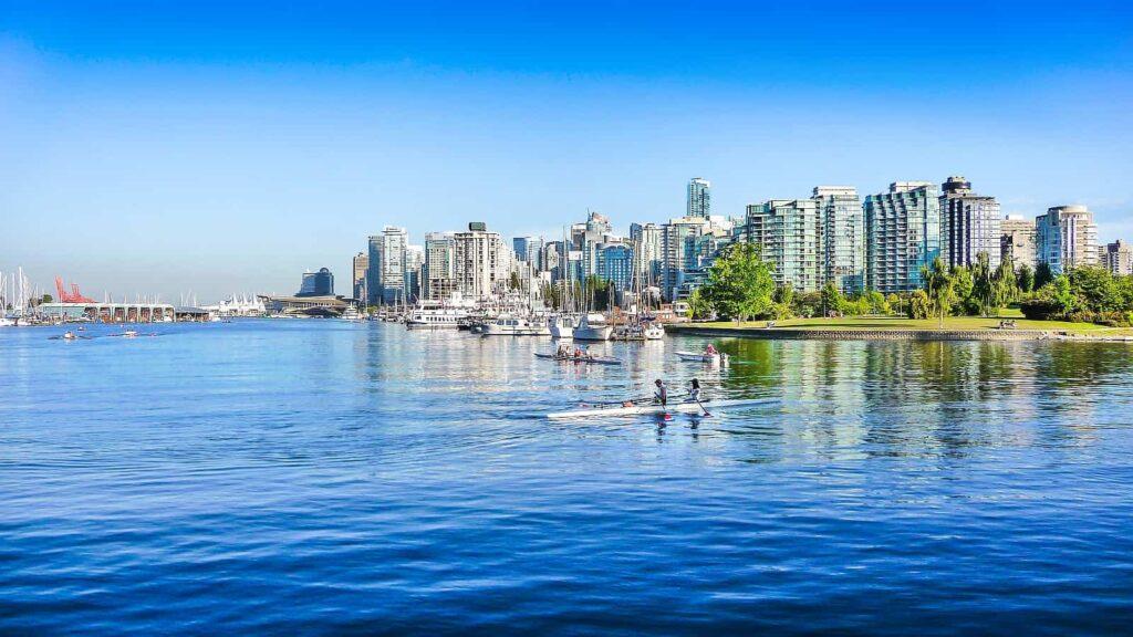 Vancouver Skyline mit Hafen. Foto pandionhiatus3/Stockfoto