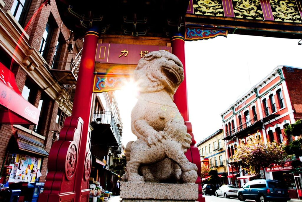 Das Drachentor am Eingang zur Chinatown in Victoria. Foto Destination Greater Victoria