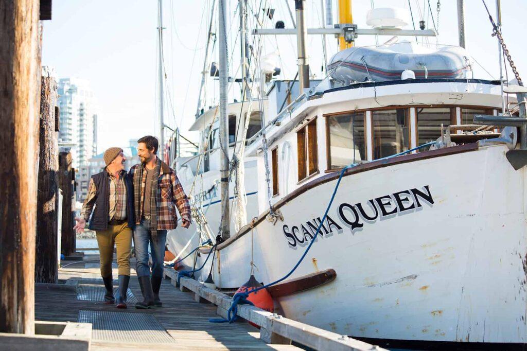 Fischer auf der Fisherman's Wharf, Dock 1. Foto Derek Ford