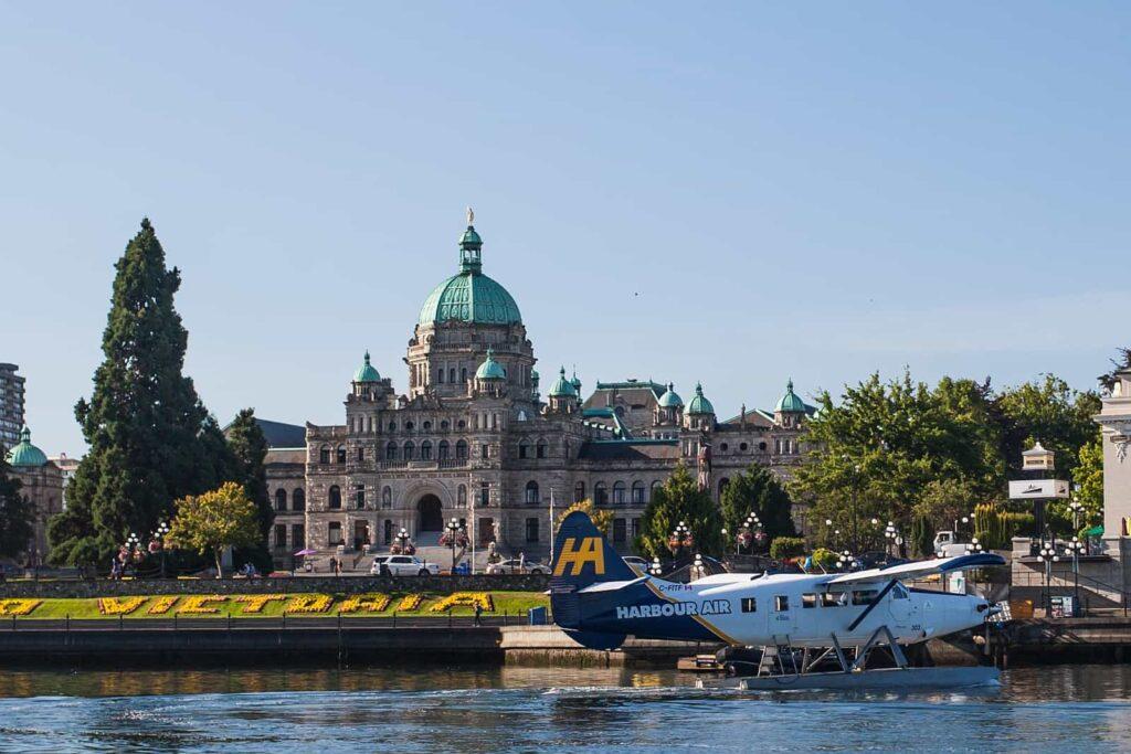 Das Parlamentsgebäude vom Hafen aus gesehen. Foto: Destination Greater Victoria