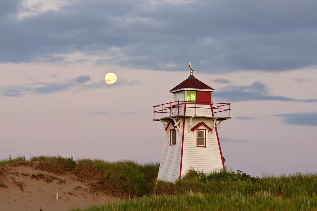Das Covehead Lighthouse im National Park. Foto Tourism PEI/Paul Baglole