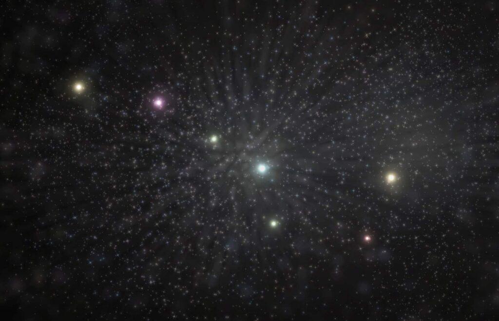 Das Sternbild des Großen Bären zeigt die Legende der Irokesen zum Namen Indian Summer. Der Bär (Trapez im Sternbild) und seine Jäger mit Hund (drei Sterne der Deichsel). Foto ezumeimages/Deposit