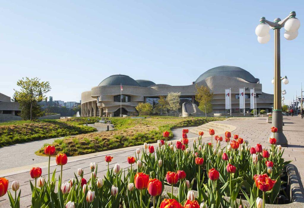 Das Gebäude des Kanada Nationalmuseum für Geschichte und Gesellschaft gilt als architektonische Meisterleistung. Foto Canadian Museum of History