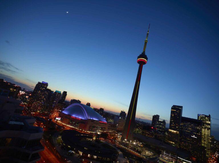 Der CN Tower in Toronto, das weithin sichtbare Wahrzeichen der Stadt. Foto CN Tower / Tour CN