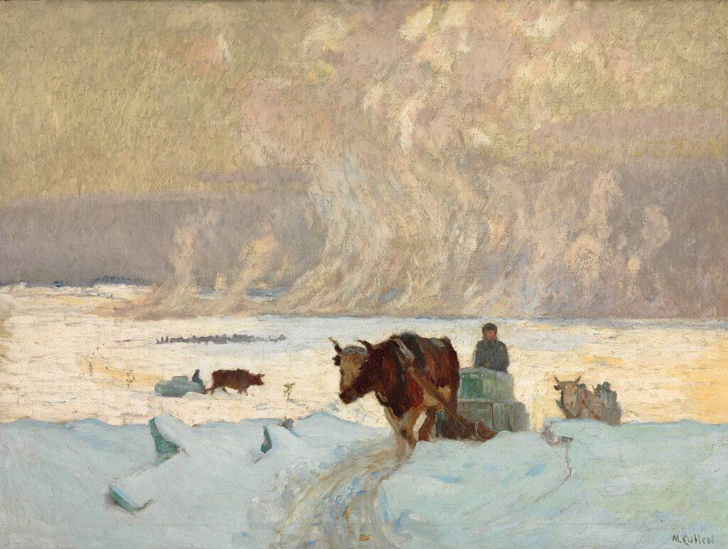 Maurice Cullen - Die Eisernte, um 1913, 76,3 × 102,4 cm, Öl auf Leinwand © National Gallery of Canada, Ottawa. Ankauf 1913. Foto: NGC