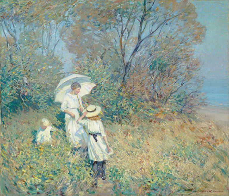 Helen McNicoll Sonniger September, 1913 92 × 107,5 cm, Öl auf Leinwand © Sammlung Pierre Lassonde. Foto: MNBAQ, Idra Labrie