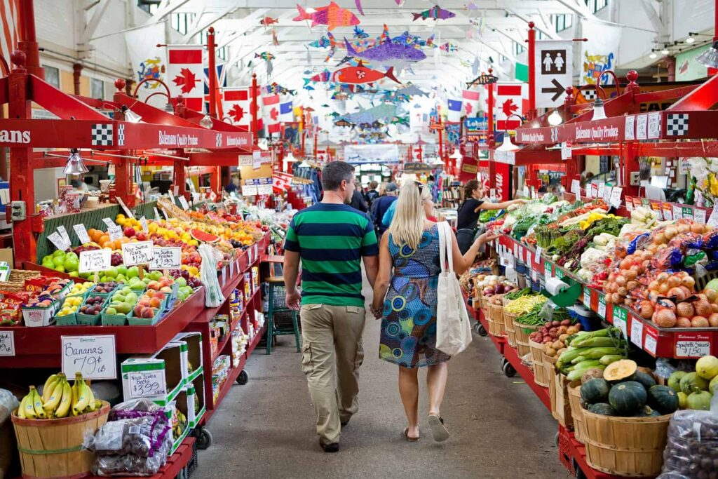 Ein farbenfrohes kulinarisches Erlebnis an der Bay of Fundy, ein Gang über den Saint John City Market. Foto Tourism New Brunswick