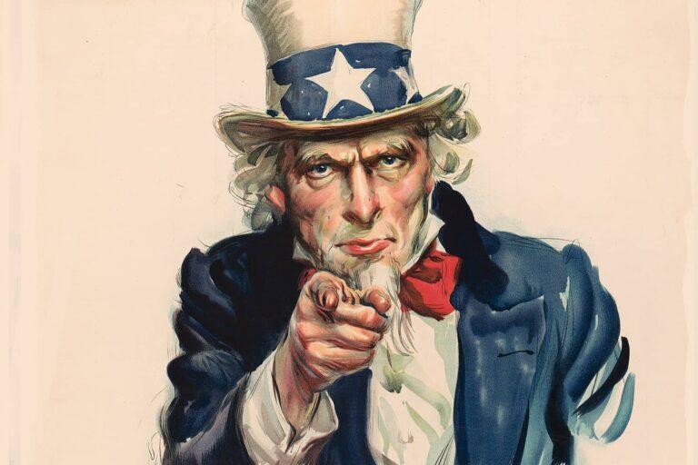 Uncle Sam auf einem US-amerikanischen Rekrutierungsplakat aus dem Ersten Weltkrieg. Foto © Library of Congress