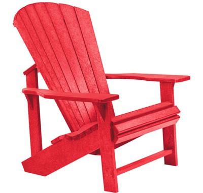 Der Upcycling-Klassiker aus Kanada, der Adirondack, bequemer Stuhl, kanadisches Nationalsymbol und Fotomotiv in Einem. Foto crpp