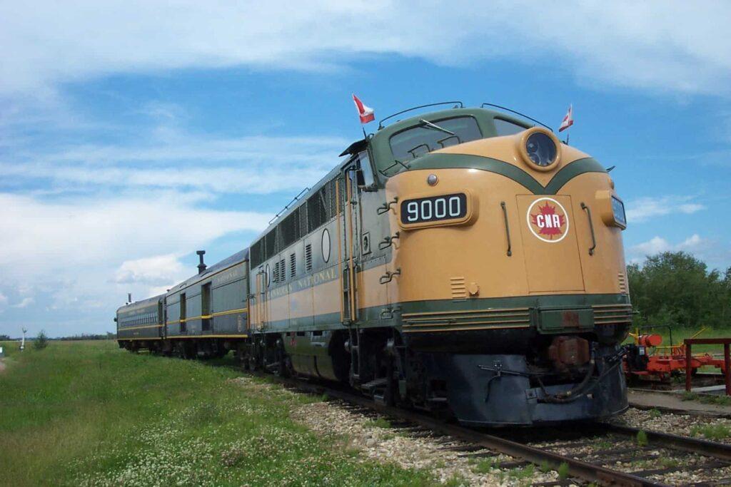 Die Fahrten mit den historischen Zügen des Alberta Railway Museum erfreuen sich großer Beliebtheit. Foto Alberta Railway Museum