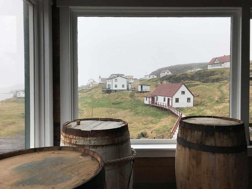 Blick auf die Gebäude in Battle Harbour. Foto Bernadette Calonego