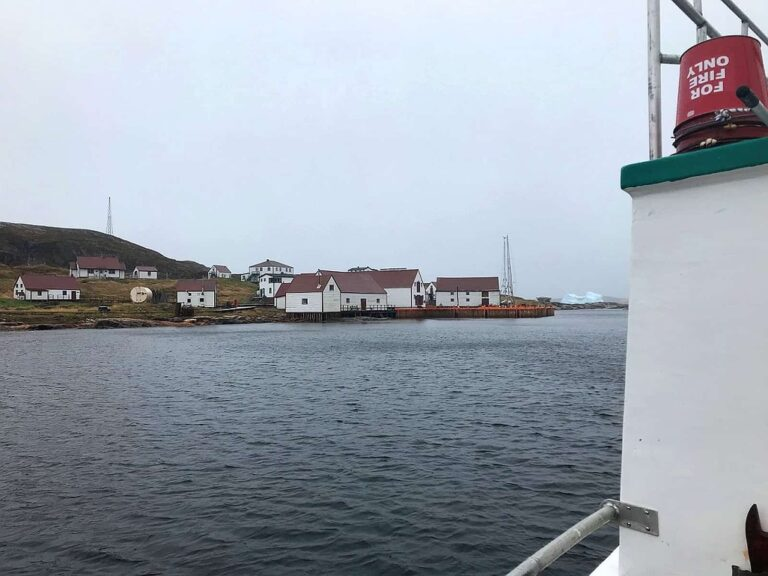 Blick auf Battle Harbour auf Battle Island, New Foundland and Labrador. Foto Bernadette Calonego