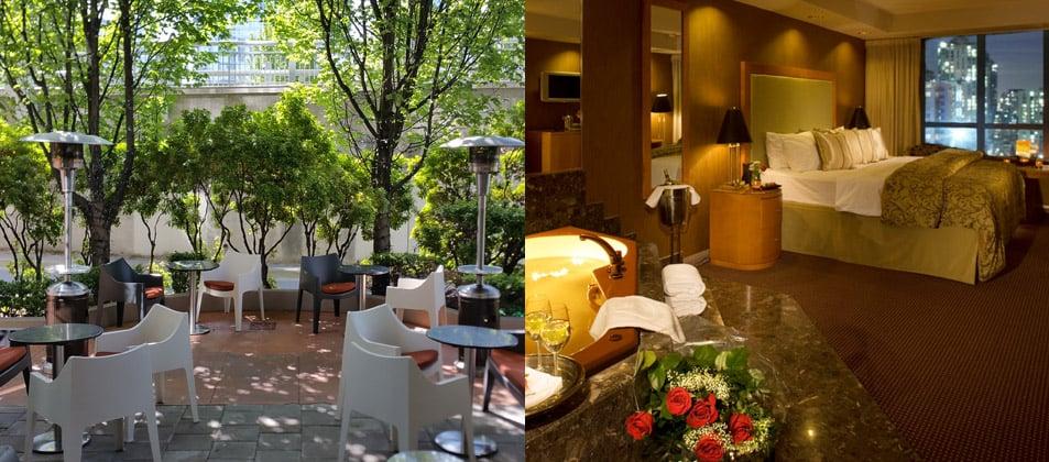 Restaurant-Terrasse und schöne Zimmer laden ein. Foto ©Executive Hotel Vintage Park
