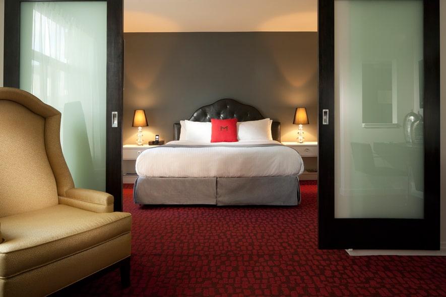 Blick in eine der Suiten im Moda Hotel. Foto ©Moda Hotel