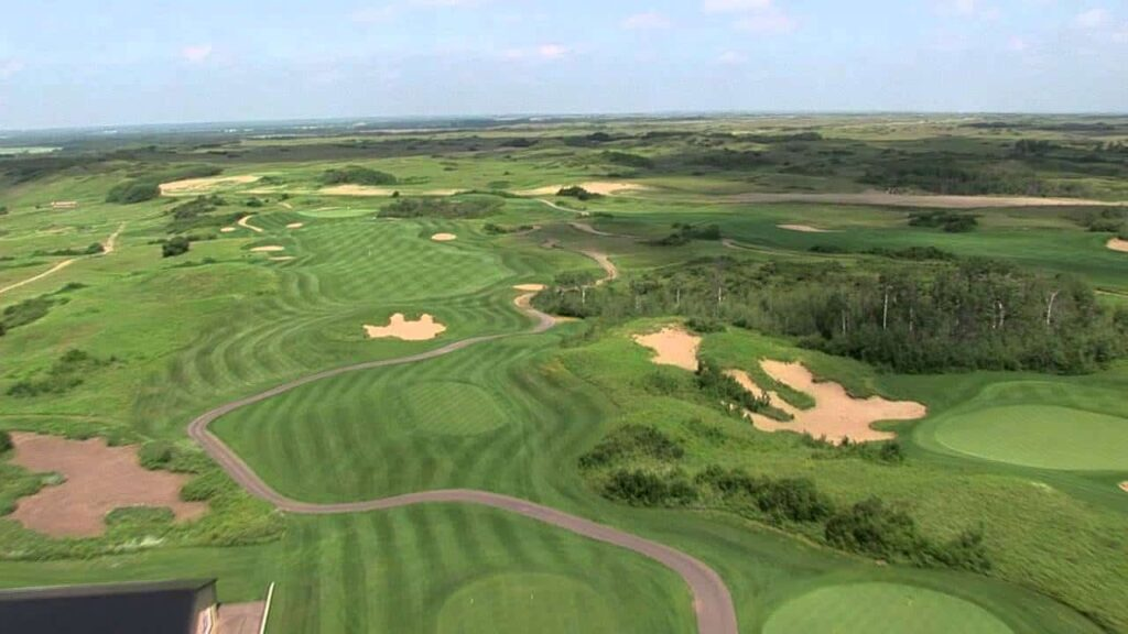 "Ein Blick auf den 93 Hektar großen Golfplatz ""Dakota Dunes Golf Links"". Foto Whitecap Dakota Dunes"