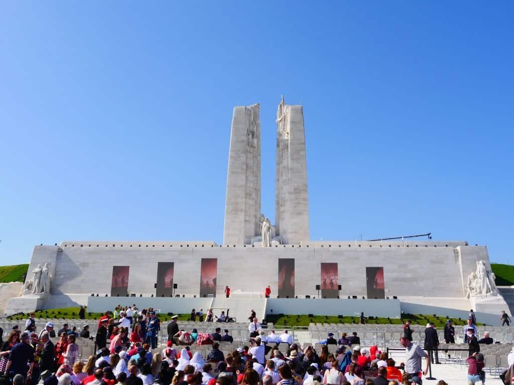 Das kanadische Ehrenmal zum Gedenken an die Schlacht von Vimy Ridge im Jahr 1917. Foto Alfred Pradel