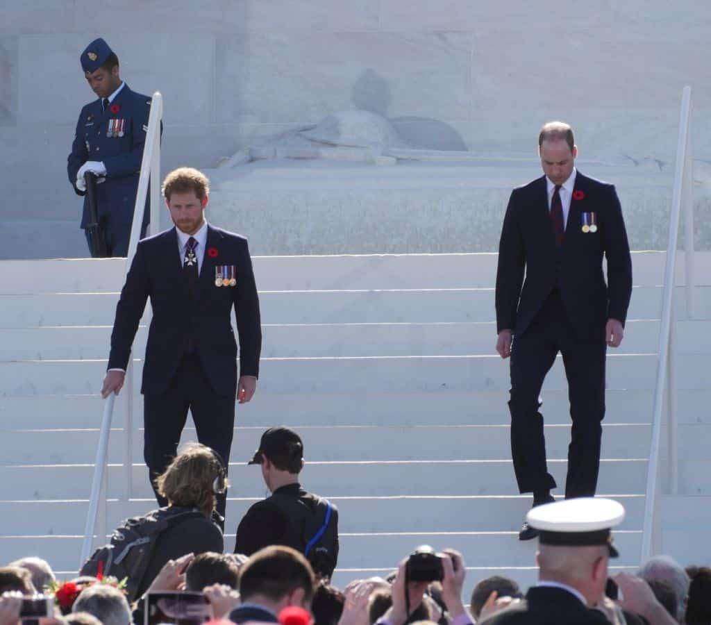 Die Prinzen William und Harry waren ebenfalls zu den Feierlichkeiten gekommen. Foto Alfred Pradel