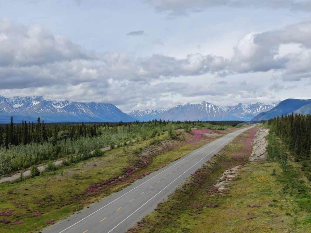 Auf dem Alaska-Highway unterwegs.  er ist Teil unserer Yukon Reise. Foto Tobias Barth / EPIC NORTH Tour Experiences