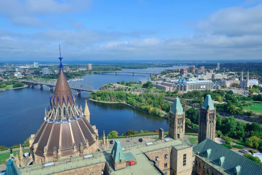Blick auf Ottawa, der Hauptstadt von Kanada. Foto rabbit75_dep / Deposit