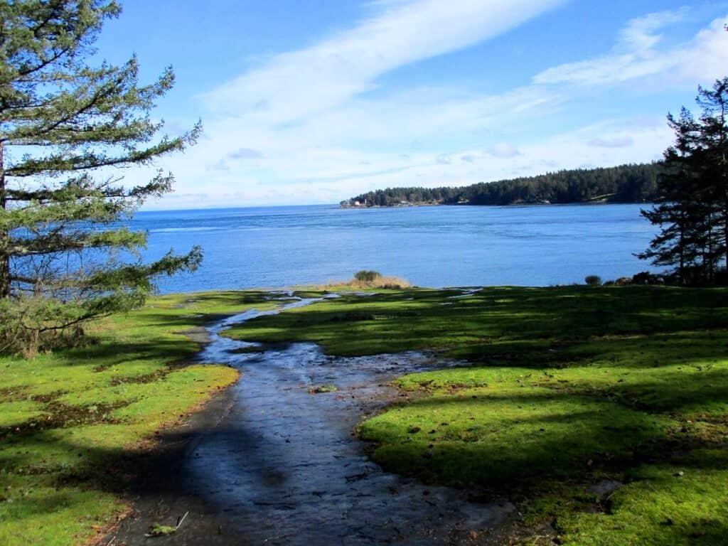Blick von Galiano auf den Pazifik. Foto Bernadette Calonego