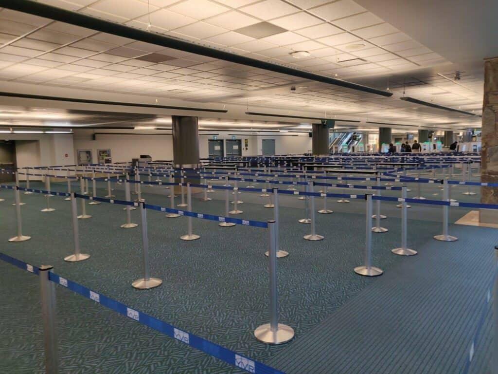 Wenig los auf den Flughäfen. Auch in Kanada ist aufgrund der Restriktionen während der Corona-Pandemie der Reiseverkehr nahezu komplett zum Erliegen gekommen. Foto FasziKa