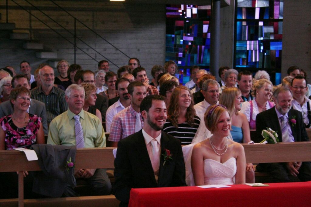 Das gemeinsame Leben besiegeln, mit der standesamtlichen (in Kanada) und der kirchlichen Trauung in Deutschland. Foto Andrea Bayer