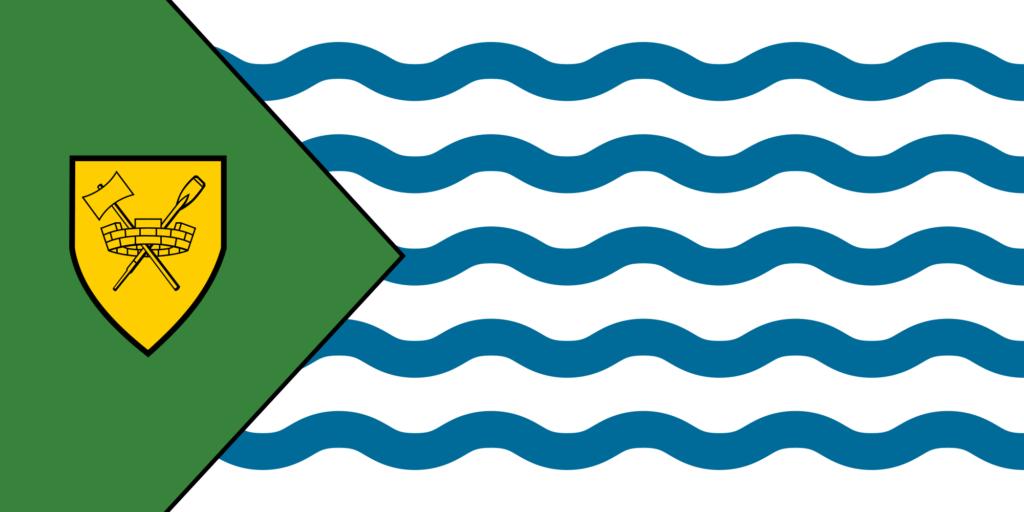 Die Flagge von Vancouver. Graphik Public Domain