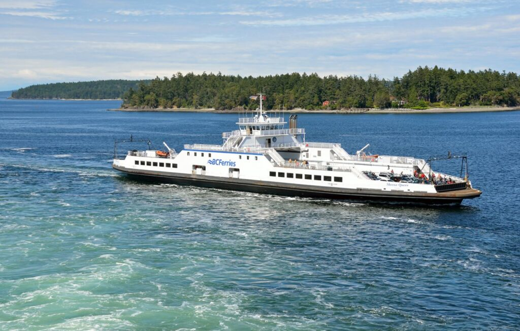 Auch mit kleineren Schiffen wie der Skeena Queen wird der Fährdienst betrieben. Foto BCFerries