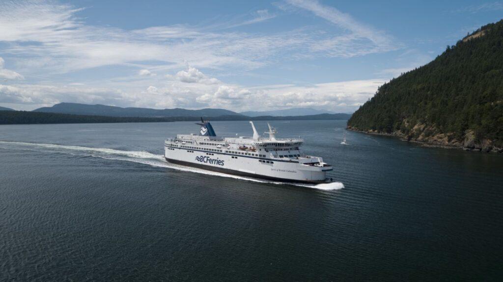 Die Spirit of Britisch Columbia auf Fahrt. Foto BCFerries