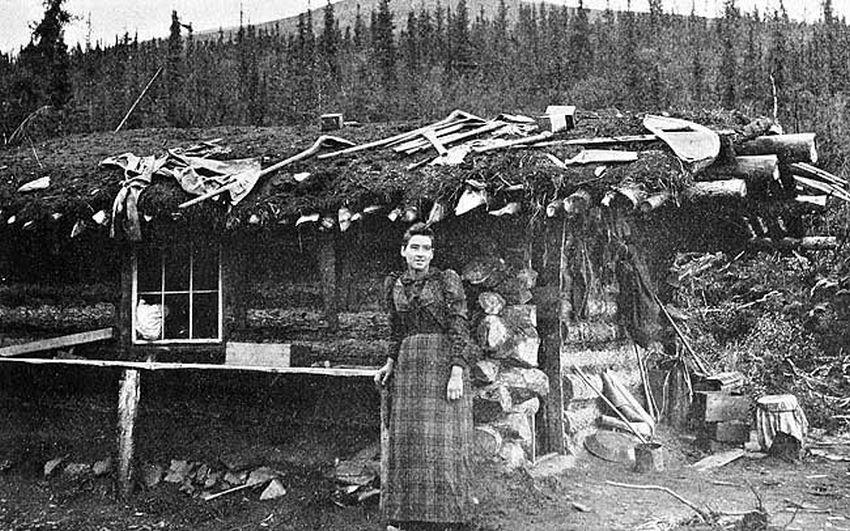 """Émilie Fortin-Tremblay, Goldsucherin sowie Gründerin und erste Präsidentin der Gesellschaft der """"Damen des Goldenen Nordens"""". Foto Veazie Wilson Collection 82/03 #1, PHO139"""