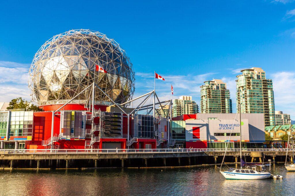 Museen und Wissenschaft in Vancouver. Das World of Science Centre lädt zum Entdecken von Forschung und mehr ein. Foto bloodua / Deposit