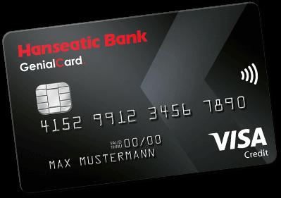 Kostenlose Kreditkarte GenialCard Hanseatic Bank