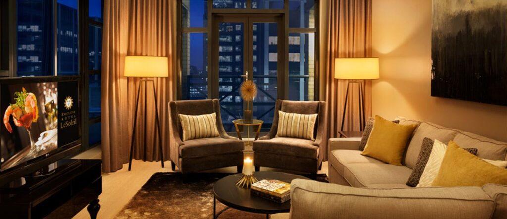 Wunderschöne Zimmer und Suiten erwarten euch im Hotel. Foto ©Executive Hotel LeSoleil Vancouver