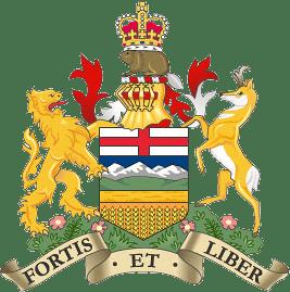 Das Wappen (Coat of Arms) der  Provinz Alberta