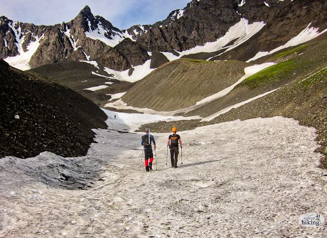 Unterwegs auf dem Auriol Peak Path. Foto YukonHiking