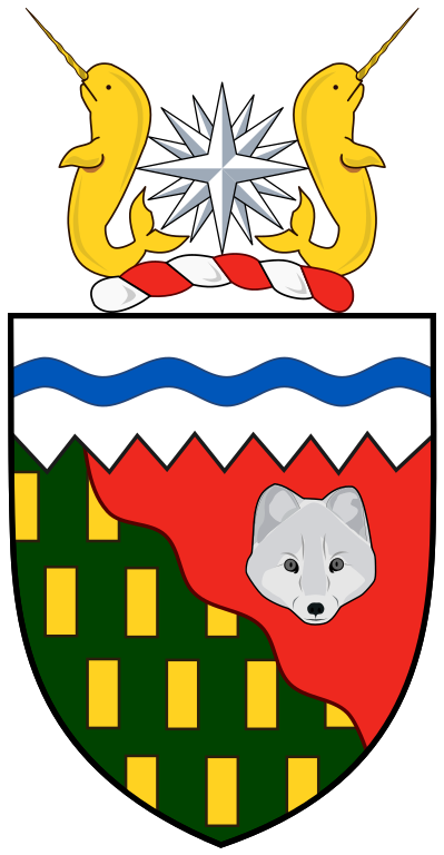 Das Wappen (Coat of Arms) der Northwest Territories.
