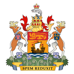 Das Wappen (Coat of Arms) von New Brunswick.