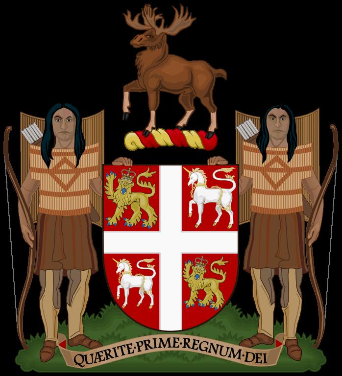 Das Wappen (Coat of Arms) der Provinz Newfoundland and Labrador.