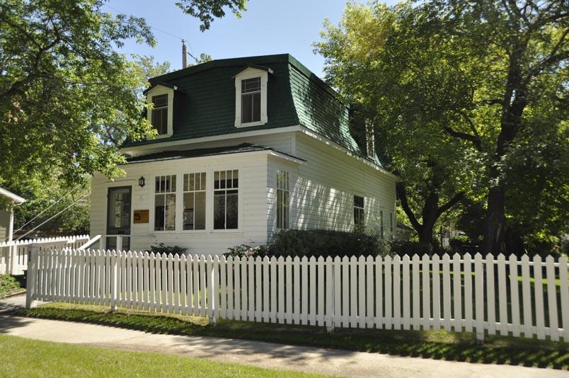 Das älteste noch an seinem ursprünglichen Standort stehende Gebäude in Saskatoon, die Marr Residence. Foto themarr.ca
