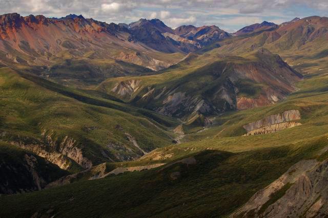 Blick in das Tal des Sheep Creek. Foto YukonHiking