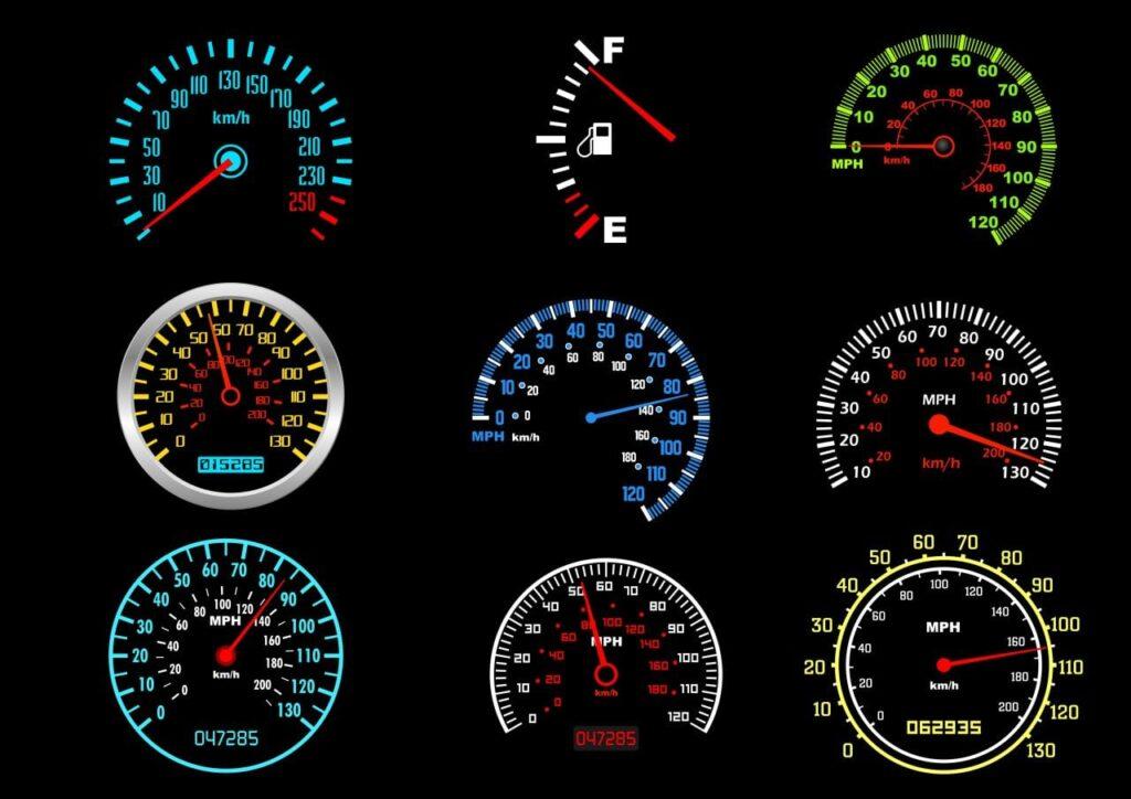 Umrechnung von Geschwindigkeiten. Graphik Seamartini / Deposit