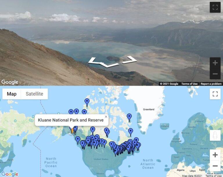 160 Orte mit Sehenswürdigkeiten und Attraktionen kann man durch die Kooperation von Parks Canada und Google Street View auf einer virtuellen Reise quer durch Kanada erleben. Screenshot Google Maps