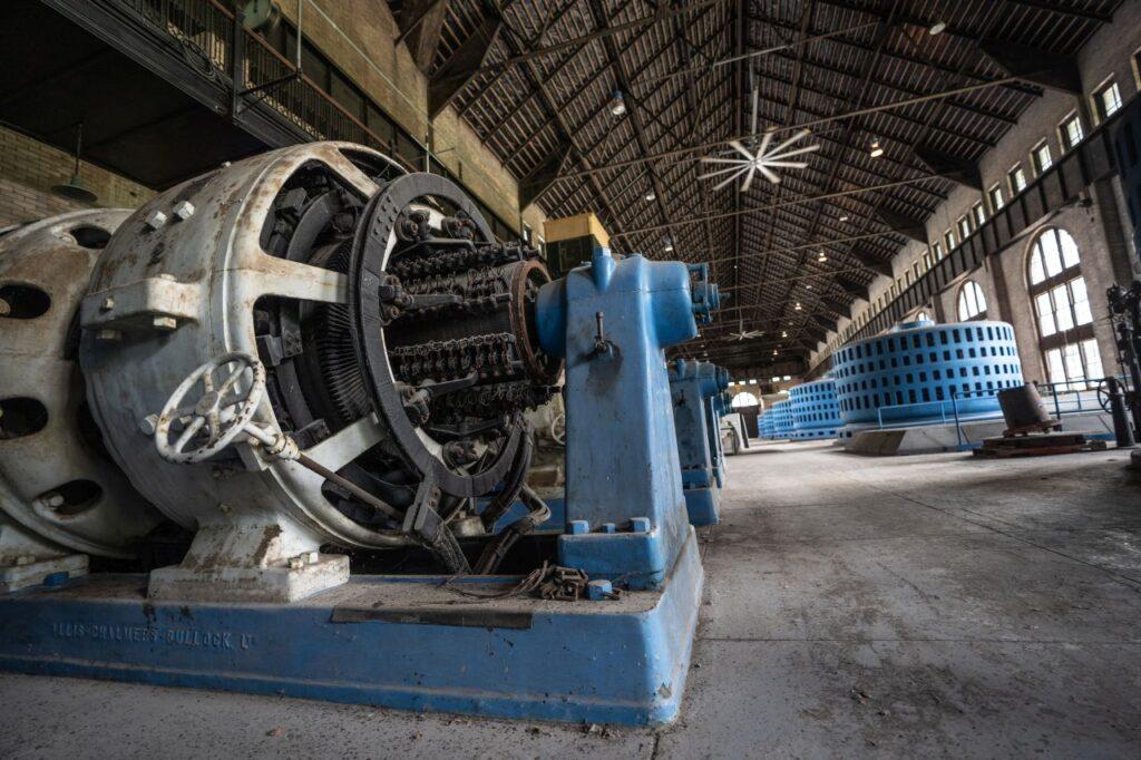 Einer der Generatoren in der Niagara Parks Power Station. Foto Niagara Parks
